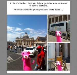 Paulchen in the Vatican city.